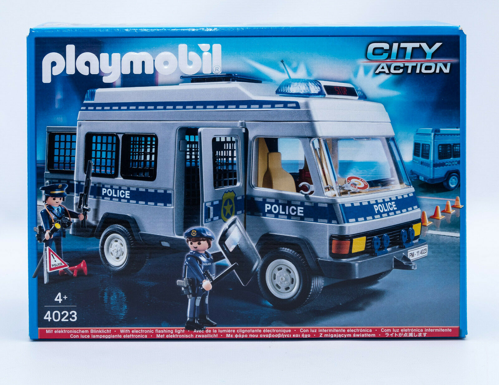 playmobil city action polizei mannschaftswagen mit figuren